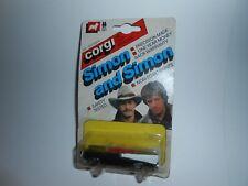 VTG 1982 CORGI SIMON AND SIMON 57 CHEVY CONVERTIBLE METTOY DAMAGED CARD/READ