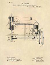 Vintage Sewing Machine Thread Spool Antique US Patent Art Print - Boutique - 766