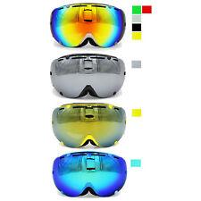 Ediors REVO Mirror Dual Lens Snowboard Ski Goggles with Anti-Fog Lens Eyewear