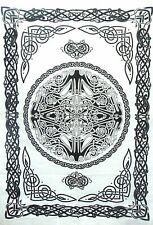 Celtic Peace Sign Wall Hanging Cotton Tapestry Poster Indian Handmade Hippie Art