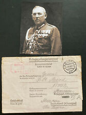 1942 Poland Letter Cover to Oflag 7 Germany POW Camp General Bernard Mond