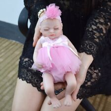 "Reborn Baby Girl 10"" Doll Soft Vinyl Silicone Lifelike Handmade Newborn Beauty"