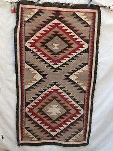 "Antique 1920's Navajo Rug Native American Indian Weaving 57""x 32"""