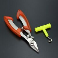 Stainless Steel Strong Fishing Scissor and Free Knot Tool with Bag Fishing Plier