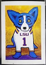 "SIGNED LSU BLUE DOG!! George Rodrigue ""A Number One Tiger Fan"" Print"