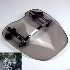 "Smoke Windshield Windscreen 19""x17"" For Harley Fatboy Lo Forty Eight Softail"