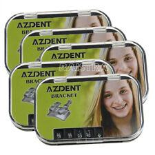 5x Dental Orthodontic Mim Monoblock Brackets Mini Roth 022 With 3 4 5 Hooks