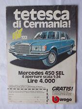 Pubblicità Advertising Werbung Italian Clipping 1977 MERCEDES 450 SEL BBURAGO