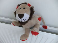 TESCO SOFT TOY CUDDLY LION CAT RED HEART I LOVE YOU TEDDY VALENTINES DAY KING