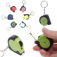 Plastic Portable Mini Tape Measure With Key Chain  Retractable Ruler 1M/3.28FT
