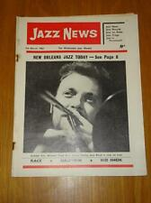 JAZZ NEWS 1962 MAR 7 UK MUSIC MAGAZINE PAPA BUE VIKING