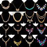 Women Fashion Pendant Chain Crystal Choker Chunky Statement Bib Necklace Jewelry