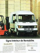 PUBLICITE ADVERTISING 016  1985  MECEDES-BENZ  le 307 D utilitaire