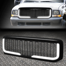 FOR 99-04 FORD F250 F350 SUPER DUTY DIAMOND MESH LED BAR FRONT BUMPER GRILLE