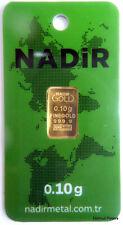 GOLDBARREN 0,10 Gramm 999.9 Gold Barren 0,1g 0,10g 24 Karat NEU