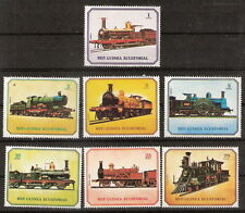Equatorial Guinea 1978 Trains Railway Steam Engine Locomotive Complete Set MNH