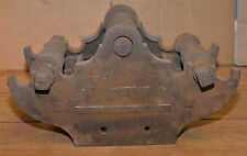 Antique blacksmith wheel wright forming anvil forge tool metal bending rare find