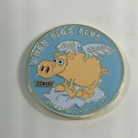 "When Pigs Fly Geo-Caching #CCM5BQ - 1.5"" Challenge Coin"