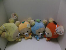 Rilakkuma Plush Stuffed Animal Suction Cup lot Car Decor San-x Fruit Orange