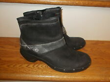 Merrell Luxe Mid Women's Black Leather Ankle Boots, Size 8.5 EU 39 EUC