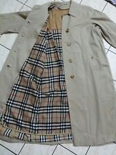 """Vtg Burberrys of london trench coat 2 layer/size 2 (22.5""""/44"""")/made in england"""