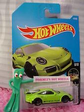 PORSCHE 911 GT3 RS #117✰sublime Green✰NIGHTBURNERZ✰2017 i Hot Wheels case E