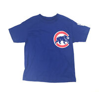New Majestic Replica MLB Chicago Cubs Button T-Shirt Youth Small Blue 0181
