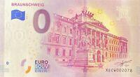 BILLET 0  EURO BRAUNSCHWEIG ALLEMAGNE  2018  NUMERO DIVERS