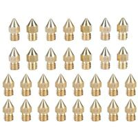 30Pcs 0.2-1.0mm Extruder Brass Nozzle Print Head For 1.75mm CR-10 MK8 3D Printer