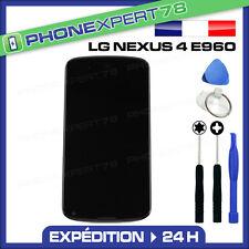 ECRAN VITRE TACTILE NOIR LCD ASSEMBLÉE pour LG GOOGLE NEXUS 4 E960 + KIT OUTILS
