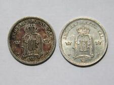 SWEDEN 1896 1898 25 ORE LOW GRADE SILVER WORLD COIN LOT 🌈⭐🌈