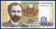 ARMENIA ARMENIE ARMENIEN 5000 DRAM PICK 51a 2003 UNC