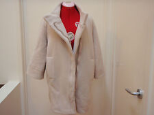 INDI BRAND cream light beige 90% wool cocoon coat one/free size NWOT 8 10 12