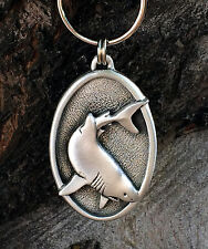 Great White Shark Pewter Keychain -Fish/Marine/Handcrafted #0933