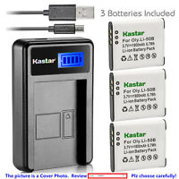 Kastar Battery LCD Charger for Olympus Li-50B & Stylus 9000 Stylus 9010 SZ-10