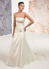 S255W ALYCE 7271 SZ 18 WHITE STRAPLESS $975  WEDDING DRESS GOWN