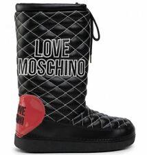 Love Moschino Moon Boots botas zapatos señora negras botas de invierno talla 41 42 nuevo