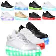Blinkende LED Herren Damen Kinder Sneakers Farbwechsel Leuchtend 79863 Schuhe