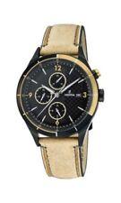 Relojes de pulsera 24 horas con fecha de cuero