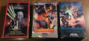 3 BETAMAX BETA Tapes - KRULL Conquest METALSTORM 1980s Sci Fi Fantasy