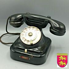 Ancien Téléphone Siemens & Halske W28 German Tischfernsprecher Wählapparat