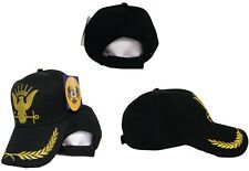 US Navy GOLD Seal Seals Eggs Feathers Black Ball Cap Hat Embroidered 3D RUF