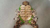 Jewish Hebrew Lions Of Judah 10 Commandments Wall Decor Judaica Israel RARE