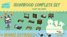 COMPLETE Ironwood DIY Set: Animal Crossings New Horizons
