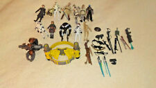 Lot of 37 Star Wars Clone Wars Action Figures, Vehicles, and Accessories Toys