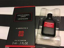 Givenchy GENTLEMEN ONLY ABSOLUTE  3ml/0.1oz  miniature BNIB eau de parfum