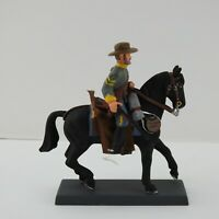 Vintage Confederate Cavalryman Civil War CSA 1863 Mounted 54mm Toy Soldier