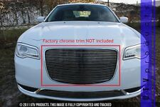 GTG 2015 - 2018 Chrysler 300 and 300C 1PC Polished Upper Overlay Billet Grille