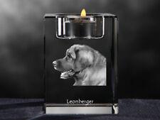Leonberger, Kristall-Kerzenleuchter mit Hund, Crystal Animals DE
