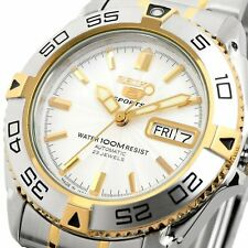 SEIKO 5 SNZB24J1 SNZB24 Automatic 23 Jewels White Dial Stainless Steel Men Watch